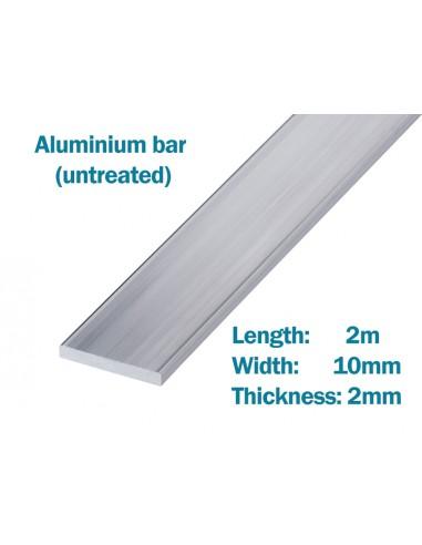 Raw Aluminium bar 2m