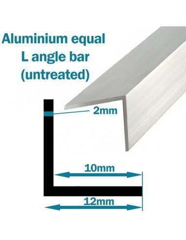 Aluminium equal L angle bar 12mm x 12mm x 2m