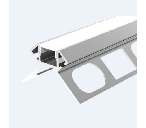 LED IN TILE Outside corner alu profile for 10 mm tiles, marble or granit