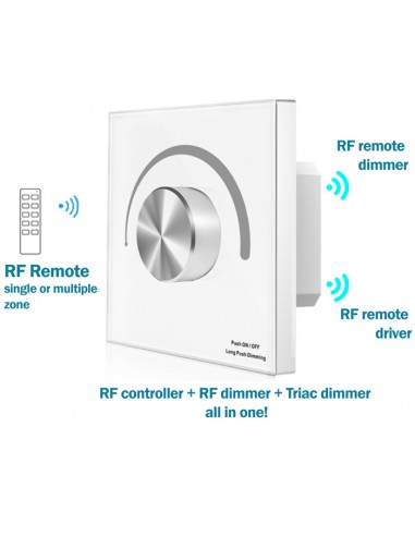 S1-K ACT TRIAC Wall switch remote controllable WHITE
