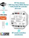 S1-B-WT AC TRIAC RF + Push button Dimmer TUYA WIFI Alexa
