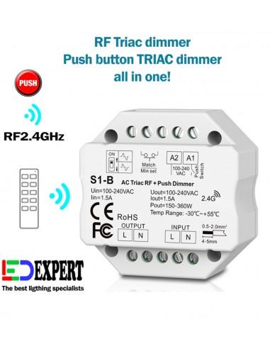 S1-B AC TRIAC RF + Push button Dimmer