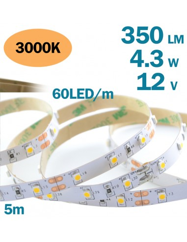 Decorative LED Strip 3528 60 per meter Warm White