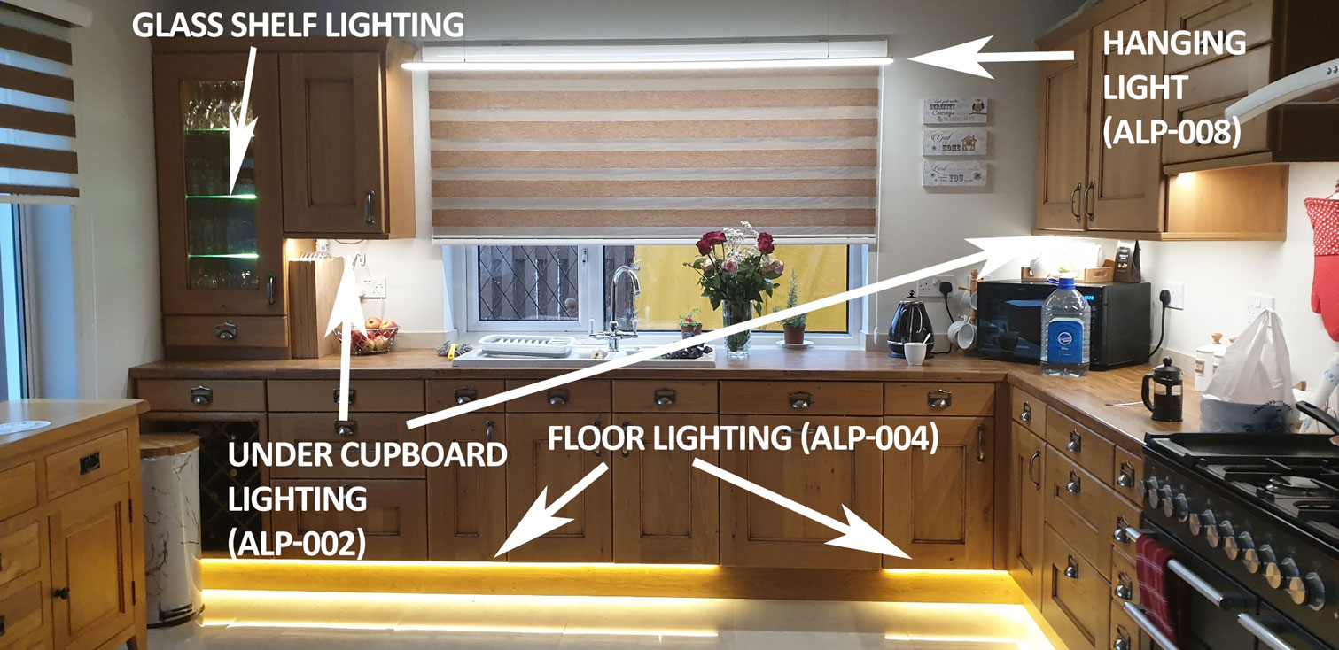 Different Kitchen LED Light options with Tutorials
